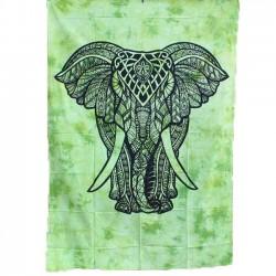 Tenture Elephant Vert