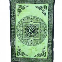 Tenture Yantra Tie and Die Vert
