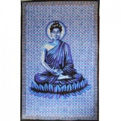 Tenture indienne Bouddha violet
