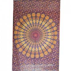 Tenture Mandala Coton Inde Jaune