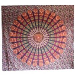 Tenture indienne Mandala Violet