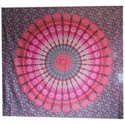 Tenture indienne Mandala Bordeau