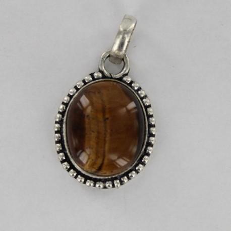 pendentif indien pierre métal