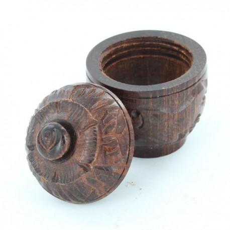 boite sculptée en bois Inde