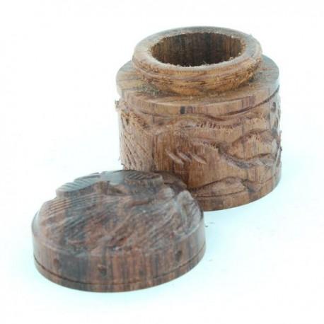 boite sculptée en bois