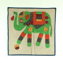 Coussin Broderie Elephant