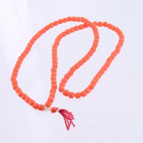 Chapelet - Mala Tibétain verre Orange
