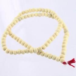 Chapelet hindou en bois blanc