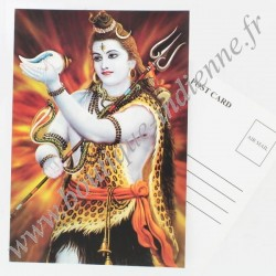 Carte Postale Indienne Shiva
