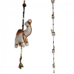 Mobile indien 5 Chameaux Blanc artisanat indien